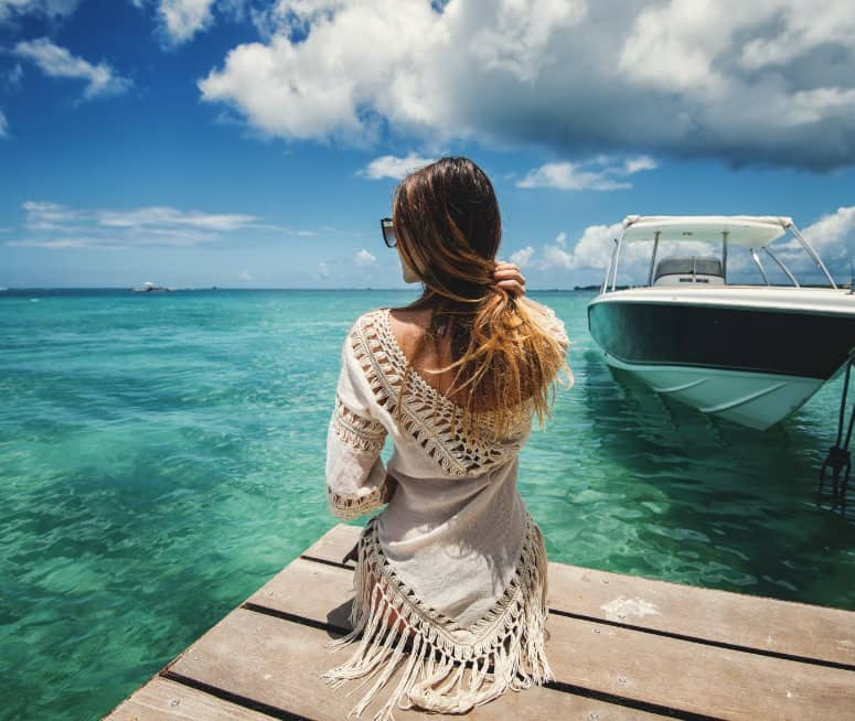 Immigrate or Emigrate to Mauritius   Woman looking at the ocean